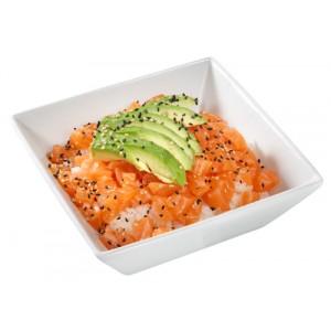 Riz tartare saumon
