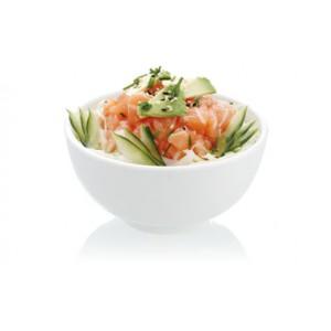 salade de choux et crevette